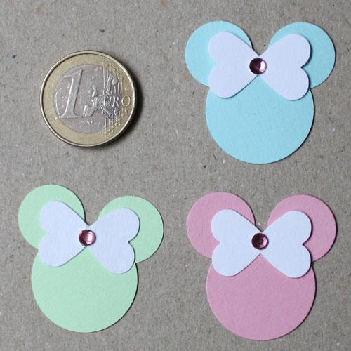 Bastelanleitung Punch Art Figur Minnie in verschiedenen Farben