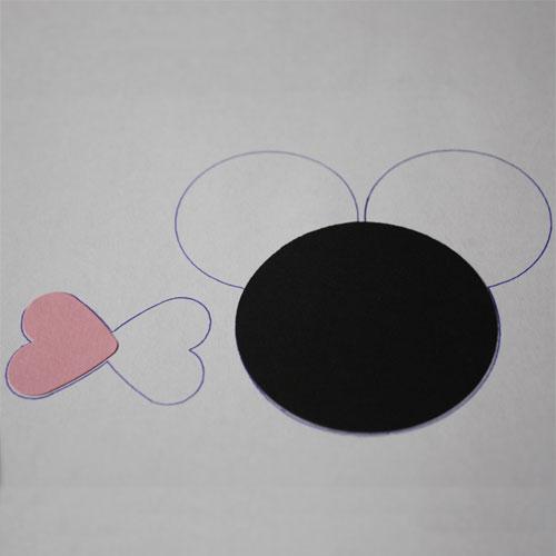 Bastelanleitung Punch Art Figur Minnie Schablone zum Zusammen setzen