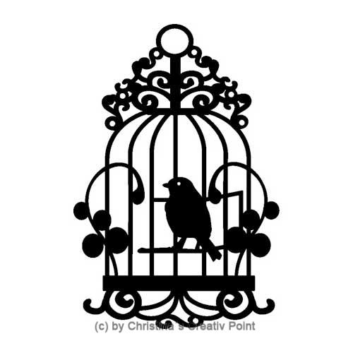 Hintergrundschablone Vogel Käfig A5
