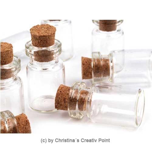 mini glasflaschen 2 5mm superkleine glasflaschen 20 st. Black Bedroom Furniture Sets. Home Design Ideas