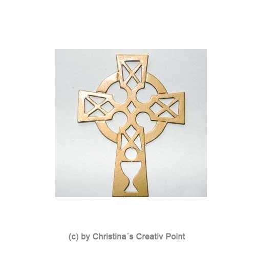 Stanzteil Kreuz Gold 25 St.