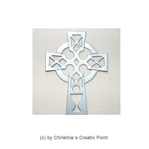 Stanzteil Kreuz Silber 25 St.