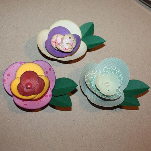 Bastelanleitung Papierblume aus Kreisen