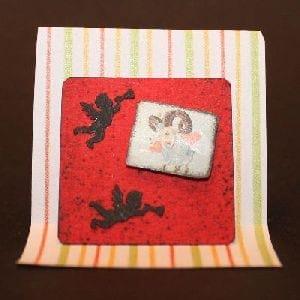 Inchie mit Engelchen-Stanzteilen und Bild
