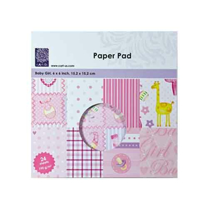 Paper Pad Baby Girl 6 24 tlg