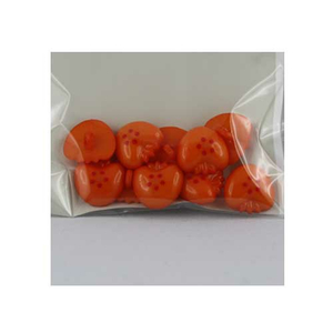 Kinderknopf Erdbeere (orange) 10 x