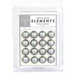 Element Pearls Brads silber - 10 mm - 16 St.