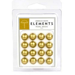 Element Pearls Brads gold - 10 mm - 16 St.