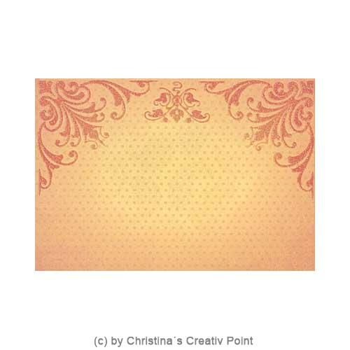 Papier mit orangenem Muster aus dem Mat Stack Whimsy
