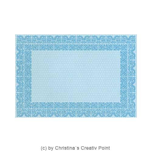 Papier mit blauem Muster aus dem Mat Stack Whimsy
