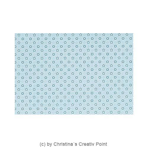 Papier mit blauem Blumen-Muster aus dem Mat Stack Whimsy