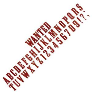 Sizzix Stanzschablone ABC|Buchstaben Wanted: Stanzalphabet zum Basteln