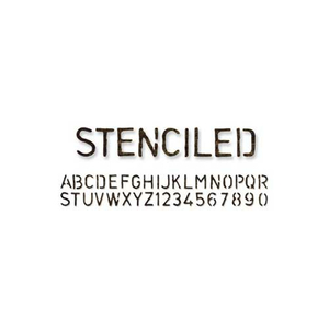 Decorative Strip Stanzschablone ABC Stenciled