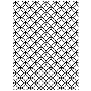 Embossing Folder Interlocking Circles (Kreise)