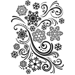 Embossing Folder Snowflake Swirl (Winter)