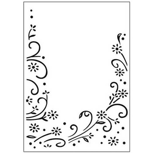 Embossing Folder Floral Border (Blumen)