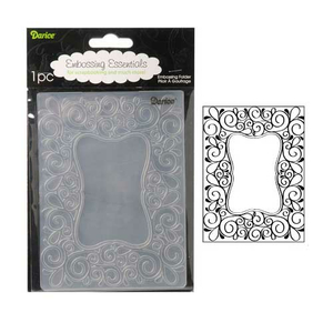 Embossing Folder Scroll Frame