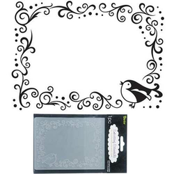 Embossing Folder (Prägefolder) Bird Scroll