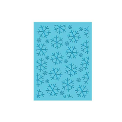 Embossing Folder (Prägefolder) Ice Crystals Schneeflocken