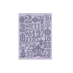 Embossing Folder (Prägefolder) XL Christmas Countdown
