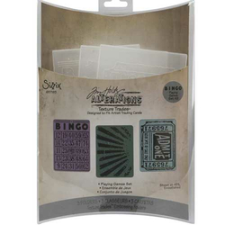 Embossing Folder (Prägefolder)  3er Set Playing Games/Bingo