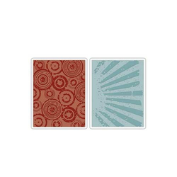 Embossing Folder (Prägefolder) Set Retro 2er-Set