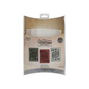 Embossing Folder (Prägefolder)  3er Set Poker Face