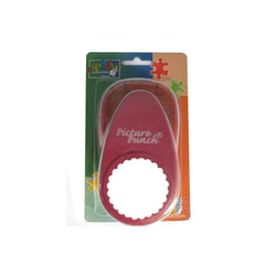 Motivlocher Picture Punch Kreis Scallop  2,5/6,3 cm
