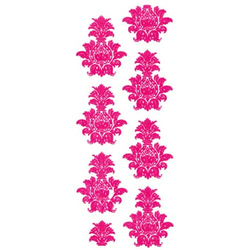 Samt Rub On Damask (pink)