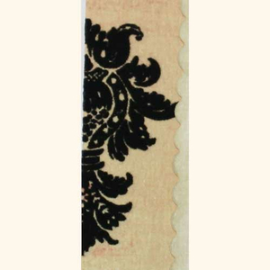Samt Rub On Damask (schwarz)