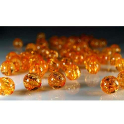 Perlen Crackle orange 10mm - 10 St.