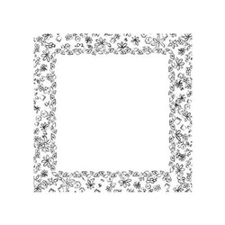 Scrapbooking-Papier Paintables Flower Frame