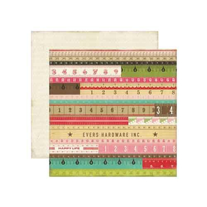 Scrapbooking-Papier Yardsticks - Distressed Look