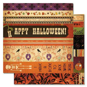Scrapbooking-Papier Strip Tease Haunted (Halloween)