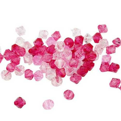 Facettenperlen-Set rosa 6 mm -  50 g