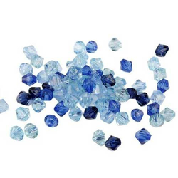 Facettenperlen-Set blau 6 mm -  50 g