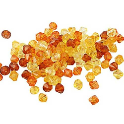 Facettenperlen-Set orange 6 mm -  50 g