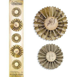 Decorative Strip Stanzschablone Mini Paper Rosettes