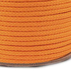 Kordel / Schnur 4 mm - orange NEON 3 m