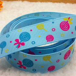 Motivband Lolli blau 16 mm
