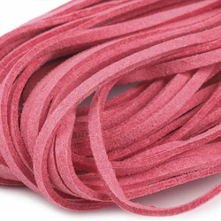 Band Kunstwildleder Veloursband rosa 3 mm - 1 m