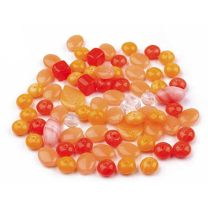 Glasperlen-Mix orange - 200 Gramm