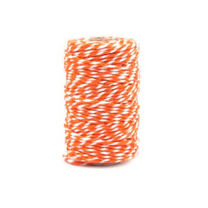 Twisted Twine orange / weiß 20 m