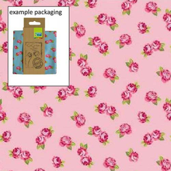 Fat Quarter Romantic Blumen rosa 45 x 50 cm