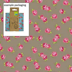 Fat Quarter Romantic Blumen grau 45 x 50 cm