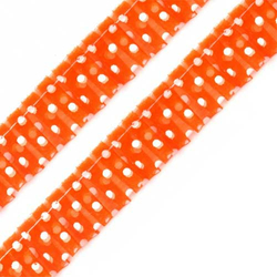 Rüschenband Polka Dots orange 20 mm