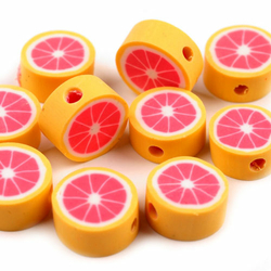 Fimo-Perle Grapefruit 10 mm