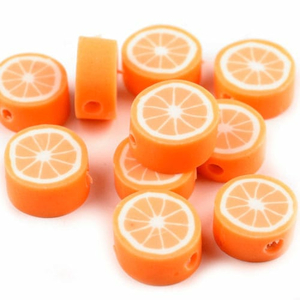 Fimo-Perle orange 10 mm