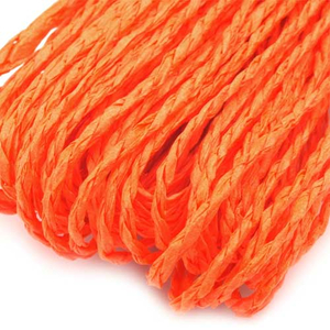 Papierschnur 2 mm orange 30  Meter