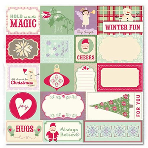 Scrapbooking-Papier Elements Weihnachten